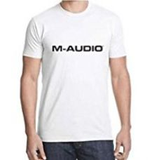 M-Audio Men's T-Shirt (Medium Size, White Color, Round Neck, Half-Sleeves, M) for Rs. 250