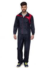 Buy Versalis Mens Polo Suit Raincoat - Navy Blue And Red (M) from Amazon