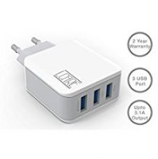 Buy Lcare A3301 3.1A Wall Charger With 3 USB Port In-Built Auto-Detect Technology For All Smartphones (White) from Amazon