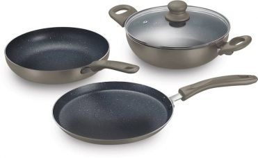 Prestige Omega Festival Pack - Build Your Kitchen Set Cookware Set  (Aluminium, 3 - Piece) for Rs. 1,399