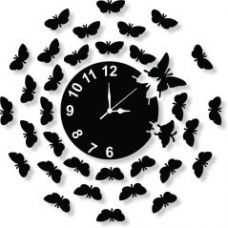 Flat 57% off on Black Wall Clock