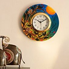 ECraftIndia Sunrise View Decorative Wooden Wall Clock (30 cm x 2.5 cm x 30 cm) for Rs. 849