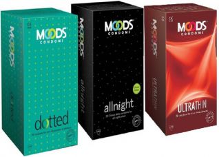 Buy Moods Combine Combo 60pc (20'S X 3) Condom  (Set of 3, 60S) for Rs. 272
