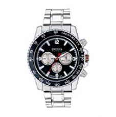 Buy Exotica Fashions Analog Black Dial Men's Watch Efg-115-St-Black from Amazon