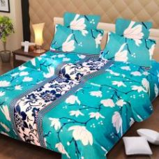 Home Elite Cotton Multicolor Printed Double Bedsheet With 2 Pillow Covers - (product Code - Rg-ncb-23) for Rs. 449