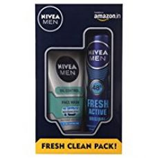 Buy Nivea Men Fresh Active Original Deodorant Spray, 150ml with All in One Face Wash, 100ml from Amazon