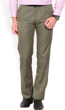 Arrow Tapered Men Brown Trousers for Rs. 1,999