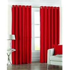 Buy PINDIA Eyelet Polyester Window Curtain - 4ft, Red from Amazon