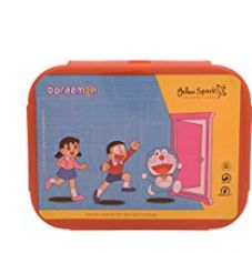 Buy Doraemon Small Plastic Lunch Box Set, 3-Pieces, Red/Yellow from Amazon