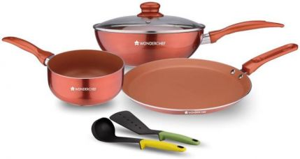 Buy Wonderchef Diva Collection Cookware Set  (Aluminium, 6 - Piece) for Rs. 1,799
