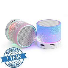 Padraig Wireless LED Bluetooth Speaker S10 Handfree with Calling Functions & FM Radio (Assorted Colour) for Rs. 280