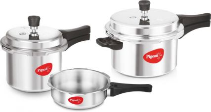 Get 23% off on Pigeon Special Combo Pack 2 L, 3 L, 5 L Pressure Cooker with Induction Bottom