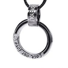 Buy Young & Forever MenTastic Double Rings Titanium Steel Couples Lock Our Love Pendant Necklace (N80202) from Amazon
