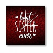 Buy TYYC New Year Gifts for Sister, Best Sister Ever Canvas Wall Clock 10 X 10 inches from Amazon