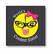 TYYC Birthday Gifts for Sister, Worlds Coolest Sister Canvas Wall Clock for Sister 15 X 15 inches for Rs. 1,499