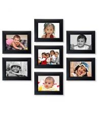 Buy Ajanta Royal Glass Wall Hanging Black Photo Frame Sets from SnapDeal