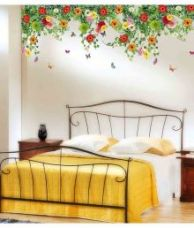 Buy Stickerskart Multicolor Bed Room Backdrop Daisy Flowers Falling From Ceiling Border Decoration Vinyl Wall Stickers from SnapDeal