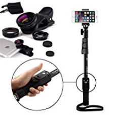 Shopizone® Yunteng YT 1288 Bluetooth Selfie Stick With 3 in 1 Mobile Camera Lens Combo For Apple and Android Smartphones for Rs. 2,199