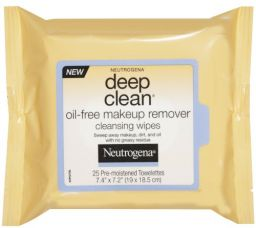 Neutrogena Deep Clean Oil Free Makeup Remover Cleansing Wipes 25 Count for Rs. 1,669
