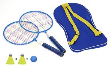 Buy Kurtzy Kids Badminton Racket, One Carry Bag With Perfect Grip With 2 X Nylon Shuttlecock & 1 Ball from Amazon