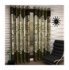 Buy Geonature Green Darbar Polyster door curtains set of 3 (size-4x7) 3Darbar-Green7f from Amazon