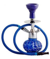 Flat 50% off on CraftRoad Blue 25 cm Glass Table Hookah - Pack of 1