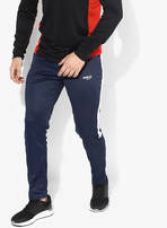 Flat 60% off on Navy Blue Solid Track Pants