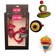 Buy Kidz Valle Assorted Wooden toys , Rope Top, Wing Top, Yo Yo - Age 3+ Years from Amazon