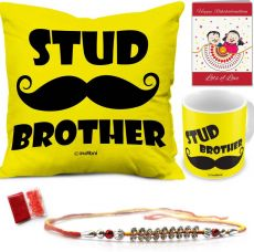 Get 79% off on indibni Designer Rakhi  (1 Rakhi, 1 Cushion Cover, 1 Cushion Filler, 1 Coffee Mug, 1 Roli Chawal Packet, 1 Greeting Card)