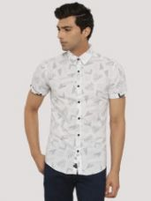 Buy RUSE Reverse Print Shirt With Contrast Buttons for Rs. 659