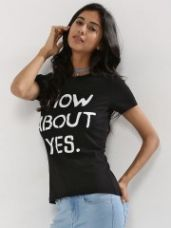 Buy ONLY 'How About' Series Slogan T-Shirt for Rs. 535