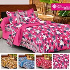 Casa Basic 144 Thread Count Double Bedsheet With 2 Pillow Cover-Pink for Rs. 499
