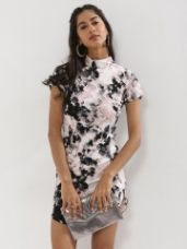 Buy AX PARIS Raised Neckline Printed Bodycon Dress from Koovs