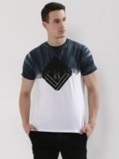 GARCON Washed Colourblock T-Shirt for Rs. 569