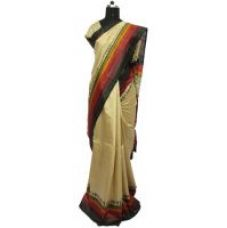 Get 33% off on Pure and Natural warle printed Mysore papper silk saree with blouse