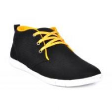 Flat 71% off on Footlodge Men's Black Lace-Up Casual Shoes