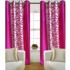 ILiv Pink Kolveri Flower Door Curtain  7Ft - 1 Pc for Rs. 299