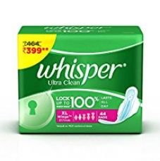 Buy Whisper Ultra Sanitary Pads - 44 Count (Extra Large) from Amazon