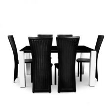 Costa Six Seater Dining Set Black And White for Rs. 39,500