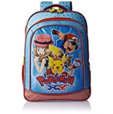 Pokemon Polyester 16 Inch Blue and Red Children's Backpack (Age group :6-8 yrs) for Rs. 787