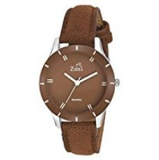 Buy Ziera Analogue Brown Dial Girl'S Watch Zr-8012 from Amazon