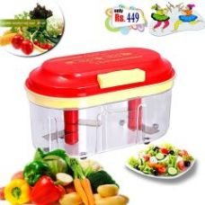 Buy Bms Lifestylers Accura Fruit & Vegetable Big Chopper With 2 Chopping Blade for Rs. 299