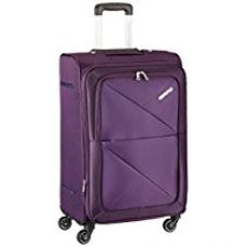 American Tourister Peru Polyester 68 cms Purple Soft Sided Suitcase (AMT PERU SP 67CM EXP - PURPLE) for Rs. 6,594