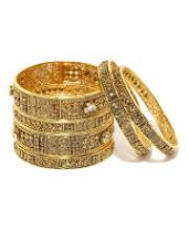 Buy Set of 6 Gold-Plated Bangles from Myntra