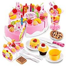 Buy Saffire Musical Diy Birthday Cake Toy (75 Pieces) from Amazon