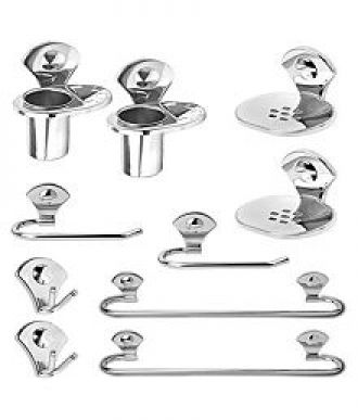 Bathroom Accessories Jabong buy fortune 10 pcs bathroom accessories set stainless steel towel