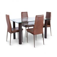 Get 61% off on Fiesta Four Seater Dining Set Brown
