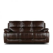 Buy William Three Seater Recliner Brown for Rs. 79,900