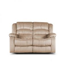Buy Bradford Two Seater Recliner Camel from Fabfurnish