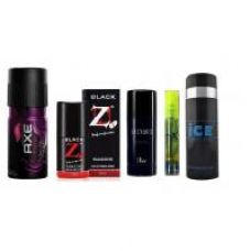 Buy Fantastic Five Deos - Axe deo + Pocket Perfume + Hot Collection deo + Ice Deo + DX Deo from ShopClues